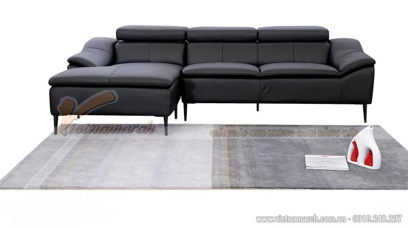 Bộ sofa góc màu đen kiểu dáng hiện đại - SDG010