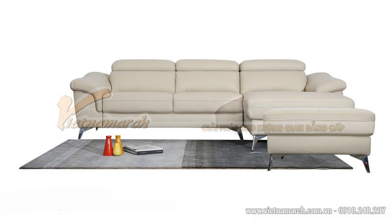 Bộ sofa góc màu trắng kiểu dáng hiện đại - SDG010