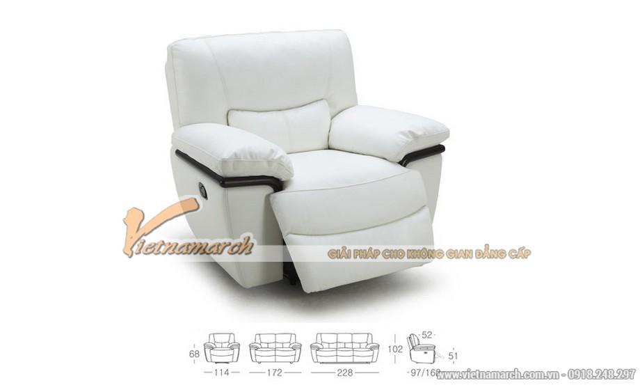 Bộ ghế sofa văng chất liệu da nhập khẩu Malaysia - 03