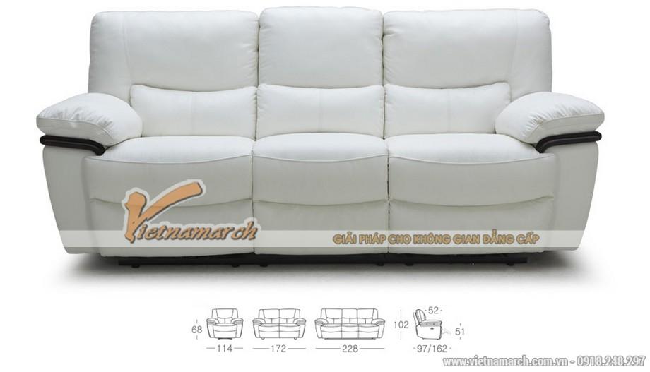 Bộ ghế sofa văng chất liệu da nhập khẩu Malaysia - 01