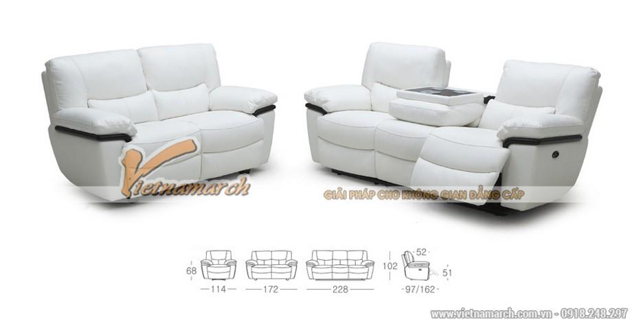 Bộ ghế sofa văng chất liệu da nhập khẩu Malaysia - 02