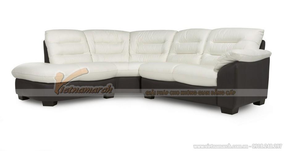 Ghế sofa góc da nhăn có thiế kế hiện đại