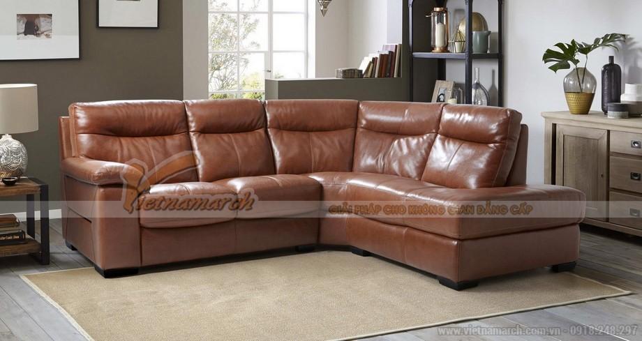 Bộ sofa da Indo - VASD005giúp phòng khách thêm sang