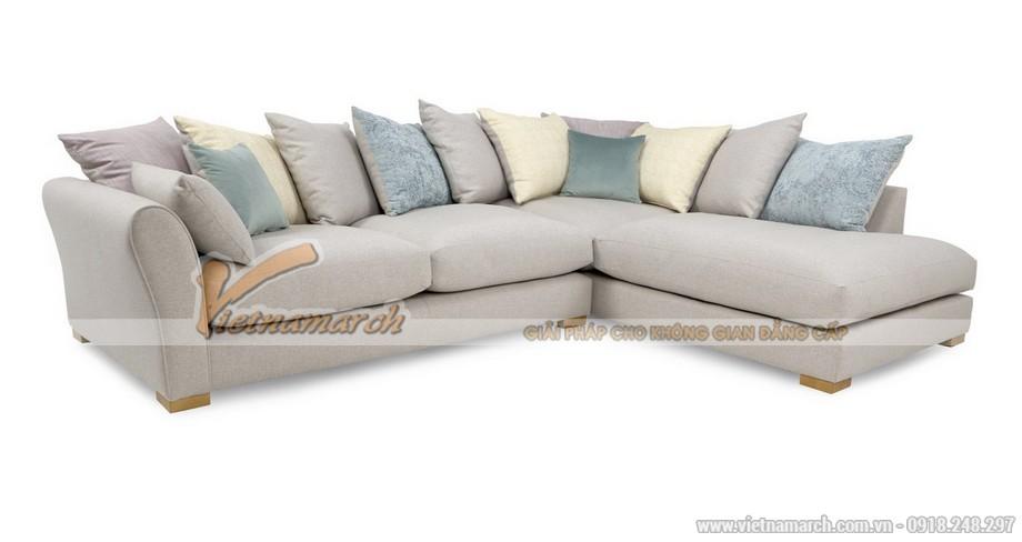 Phòng khách rộng rãi sang trọng với Mẫu ghế sofa góc chất liệu vải - Mã: SVG-019