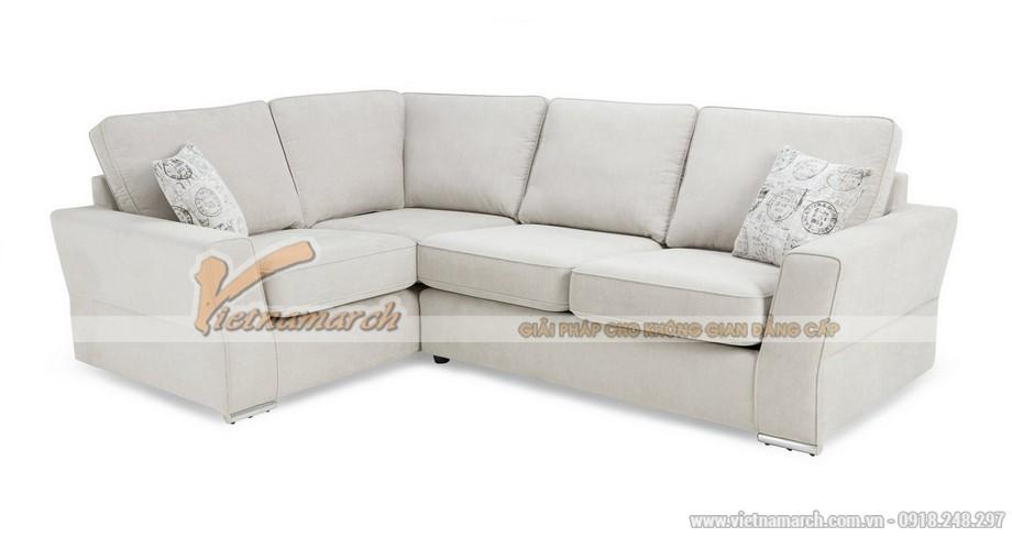 Mẫu ghế sofa góc, văng chất liệu vải nỉ sang trọng mới nhất 2016 - Mã: SVG-057