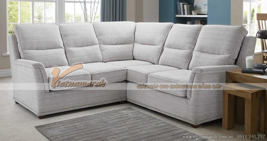 Mẫu ghế sofa góc vải bọc sợi cotton – Mã số: SVG052