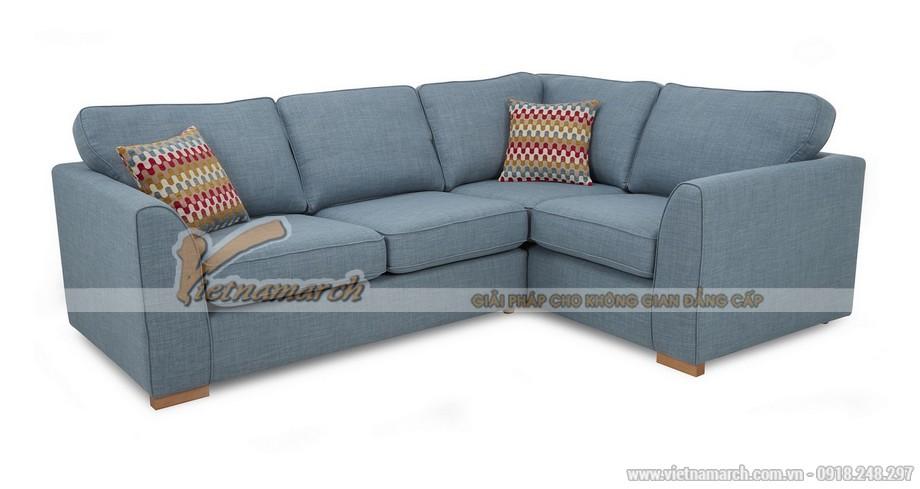 Mẫu ghế sofa vải nỉ màu nước biển cho không gian mới lạ – Mã: SVG-062