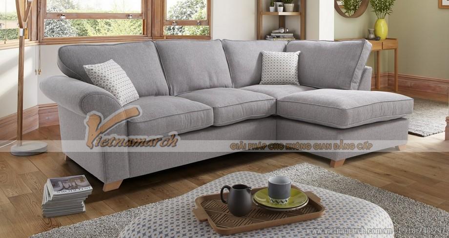Bộ sofa góc chất liệu vải nỉ Sợi Linen khung cứng cáp khỏe khoắn - Mã: SVG-029