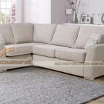 Mẫu ghế sofa góc, văng chất liệu vải nỉ sang trọng mới nhất 2016 – Mã: SVG-057