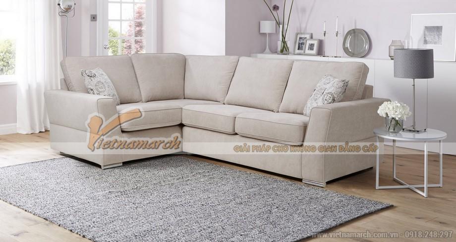 Mẫu ghế sofa góc vải nỉ mới nhất 2016 - SFVN057- 01
