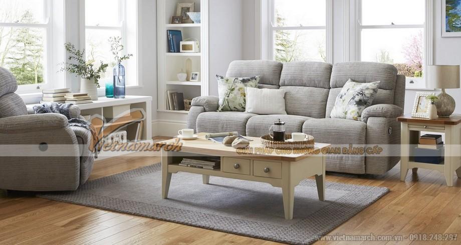 Mẫu ghế sofa văng vải nỉ 3 chỗ ngồi mới lạ lôi cuốn- Mã: SVV-051