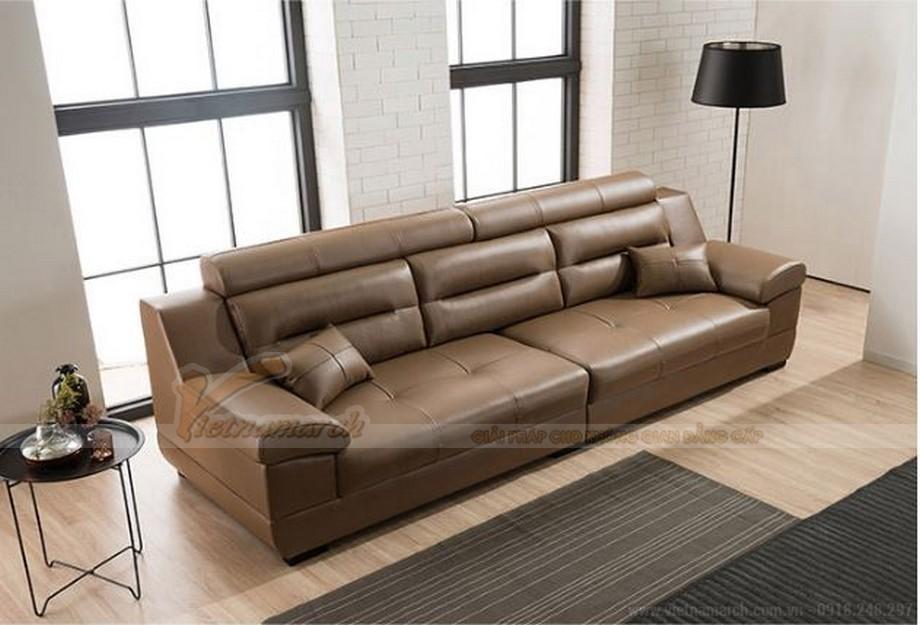 Bộ ghế sofa da văng sang trọng, cao cấp