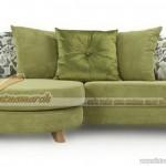 Mẫu ghế sofa vải nỉ góc nhỏ đơn cho nhà diện tích nhỏ – Mã: SVG-017