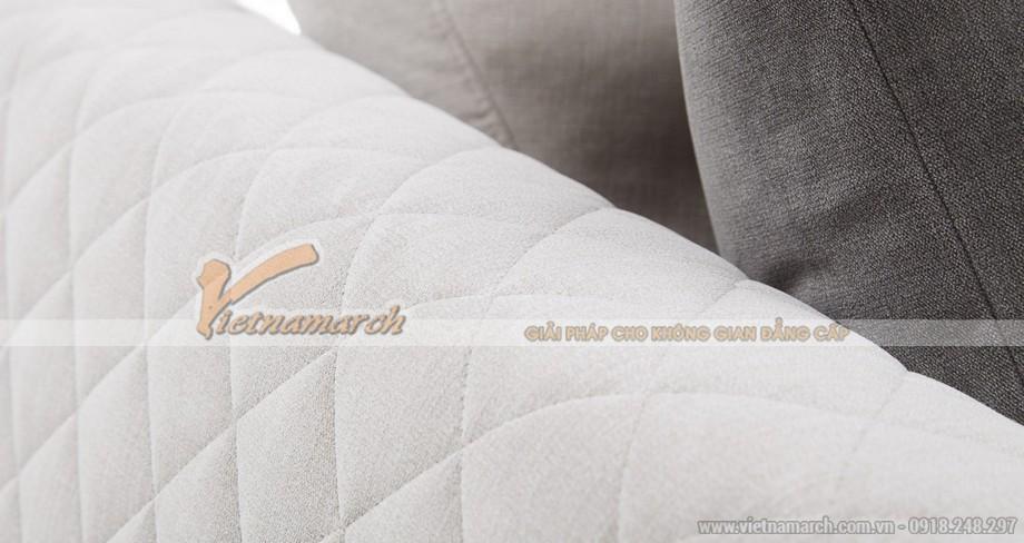 Mẫu ghế sofa vải kiểu dáng góc cho thanh niên và trung niên - Mã: SVG-016