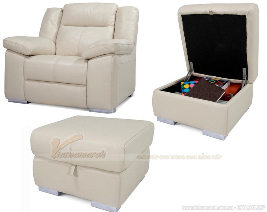 mẫu ghế đơn và đôn cho bộ sofa SDG014