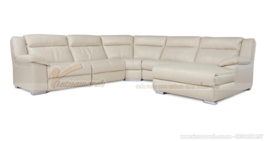 Bộ sofa góc SDG014 màu trắng nhẹ nhàng