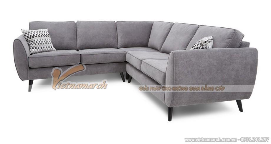 Mẫu ghế sofa góc 2x1x2 vải nỉ chất liệu Nhung cao cấp - Mã: SVG-030