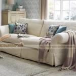 Mẫu ghế sofa vải nỉ trắng sạch sợi Silk – Mã: SVG-035