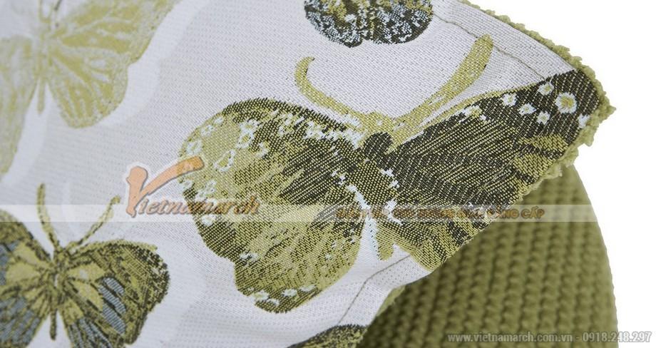 Mẫu sofa góc trẻ trung với vải nỉ màu cốm và họa tiết tự nhiên – Mã: SVG-036