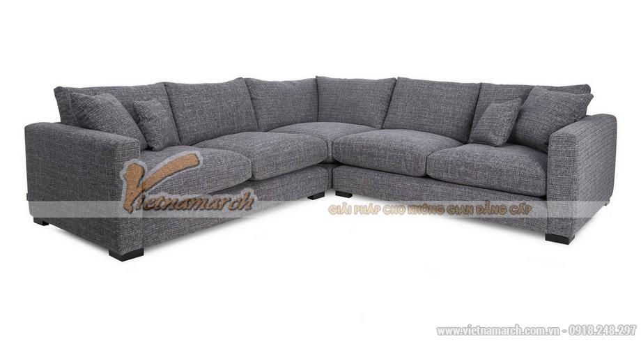 Mẫu ghế sofa góc vải nỉ chống ẩm mốc - Mã: SVG-034