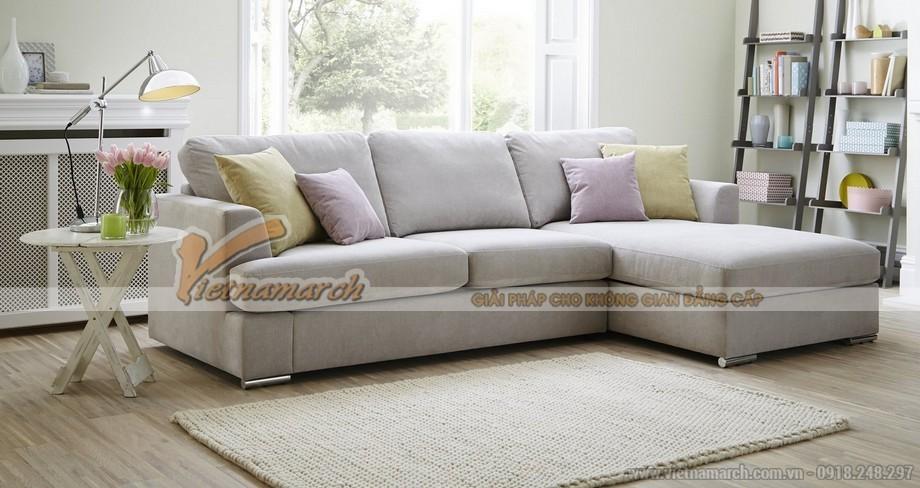 Ghế sofa góc vải nỉ Sợi Cotton mềm mại ấm áp - Mã: SVG-061