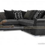 Mẫu ghế sofa vải nỉ đen tuyền sang trọng quý phái – Mã: SVG-018