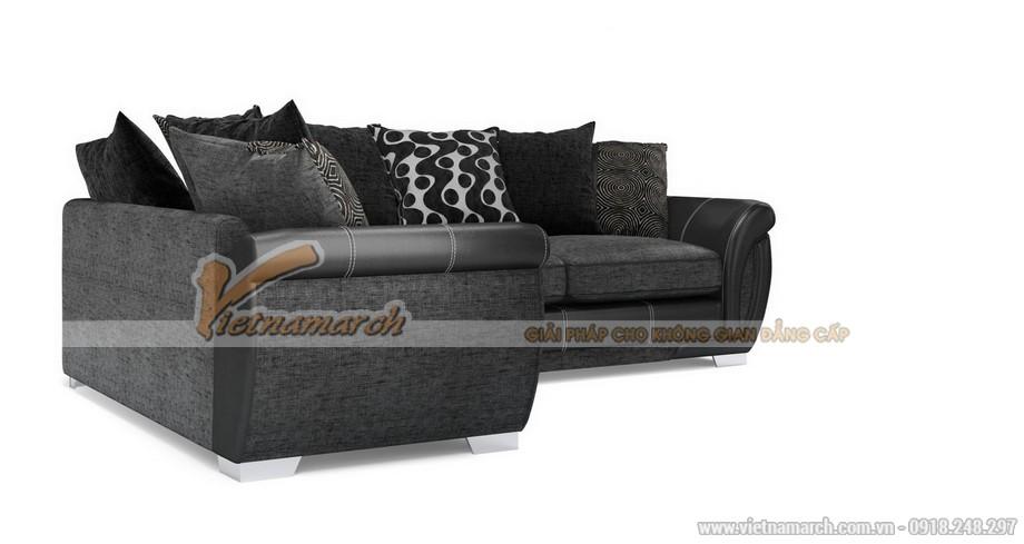 Mẫu ghế sofa vải nỉ đen tuyền sang trọng quý phái - Mã: SVG-018