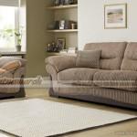 Mẫu ghế sofa văng vải Nhung nâu sữa sang trọng cho biệt thự – Mã: SVV-018