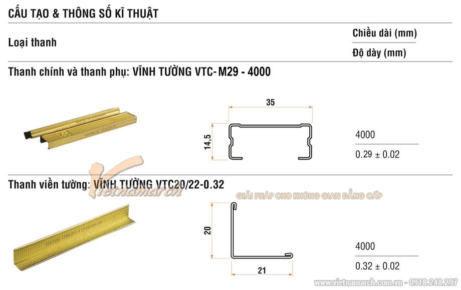 Khung trần thạch cao chìm M-29 (khung tiết kiệm)-01