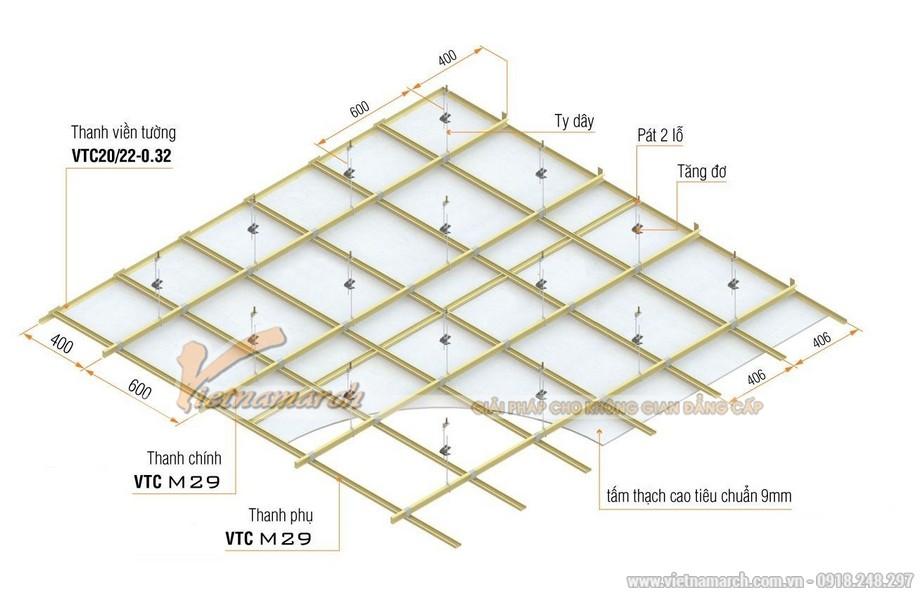 Khung trần thạch cao chìm M-29 (khung tiết kiệm)-02