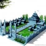 Thiết kế lăng mộ bằng đá cho dòng họ Phạm ở Thái Bình