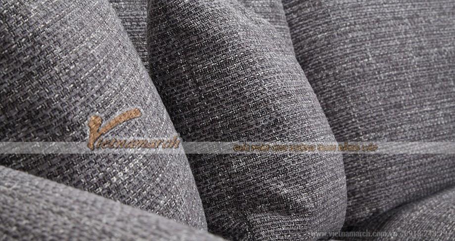 Mẫu ghế sofa góc vải sợi linen đày tinh tế