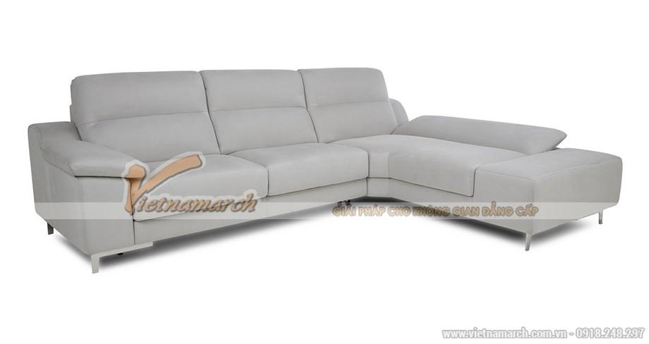 Mẫu ghế sofa góc vải nỉ công năng như giường nằm - SVG045