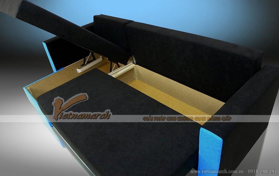 Mẫu ghế sofa vải nỉ làm giường nằm độc đáo nhất Việt Nam - Mã số: SVG03
