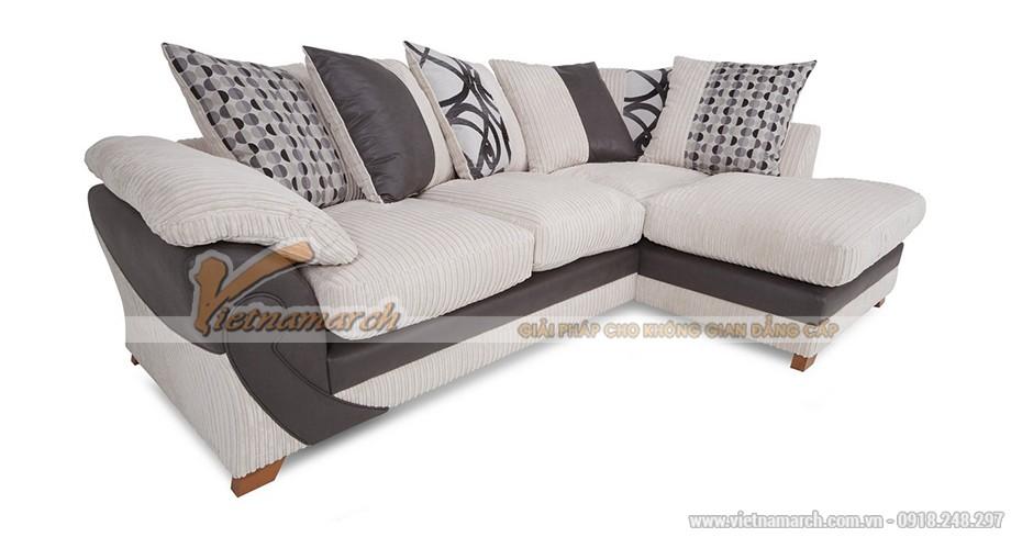 Mẫu ghế sofa góc bọc vải sợi ramie - Mã: SVG-050