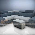 Sofa góc vải nỉ với mẫu thiết kế đột phá cho chung cư tuyệt đẹp – Mã: SVG-014