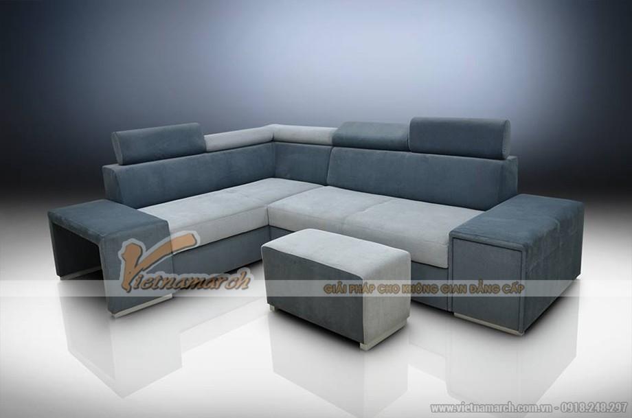 Sofa góc vải nỉ với mẫu thiết kế đột phá cho chung cư tuyệt đẹp - Mã: SVG-014