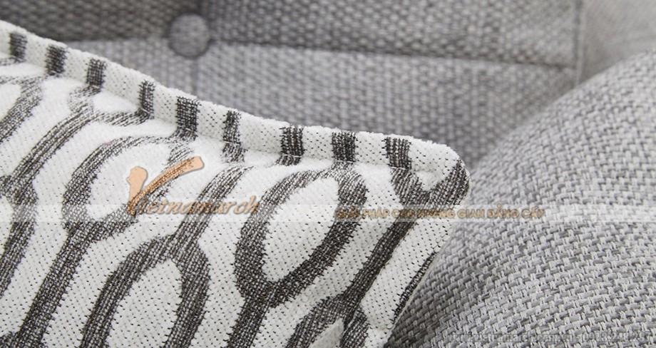 Bộ ghế sofa vải nỉ xếp góc với 2 ghế ngồi, mẫu gọn gàng độc đáo cho nhà xinh - Mã: SVG-044