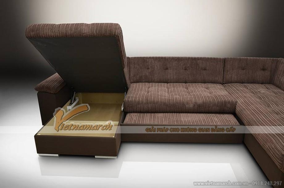 Mẫu ghế sofa bed vải nỉ cho nhà ống tiết kiệm diện tích hiệu quả - Mã: SVG-013