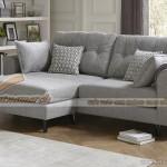Bộ ghế sofa vải nỉ xếp góc với 2 ghế ngồi, mẫu gọn gàng độc đáo cho nhà xinh – Mã: SVG-044