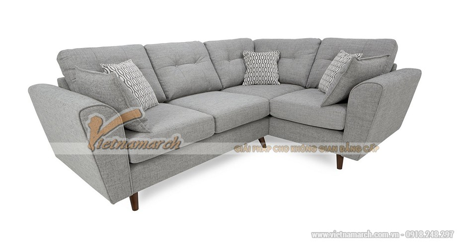 Mẫu ghế sofa góc vải sợi cotton nhập khẩu Thái Lan- Mã: SVG-048