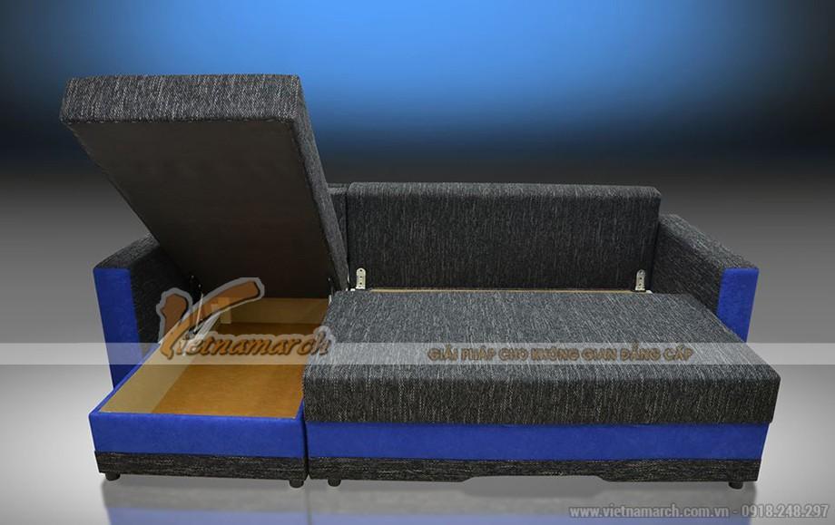 Mầu sắc vải phá cách trong mẫu ghế sofa góc đẹp lạ mắt - Mã: SVG-007