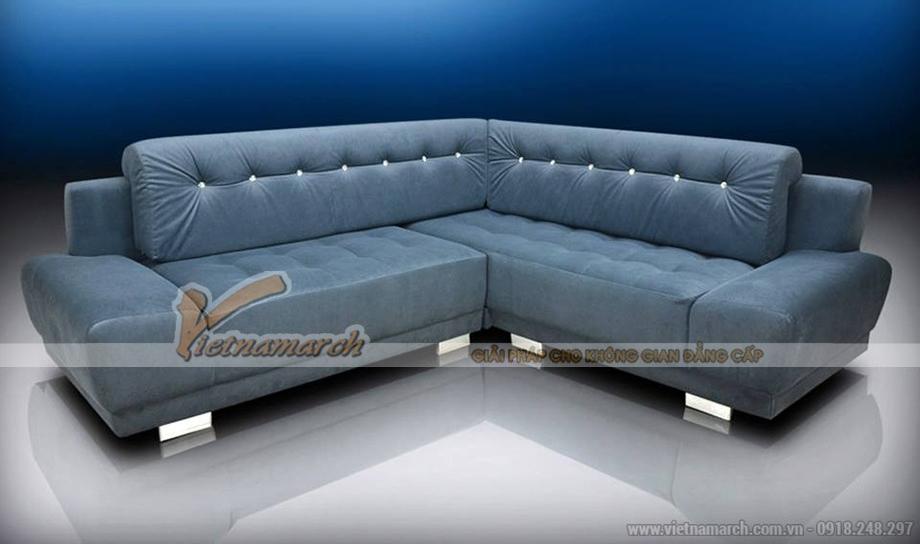 Mẫu sofa vải nỉ Nhung cao cấp mềm mại như lông vũ