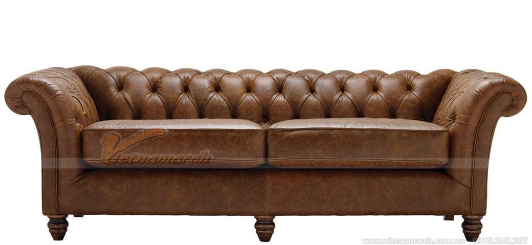 Mẫu ghế sofa màu da bò