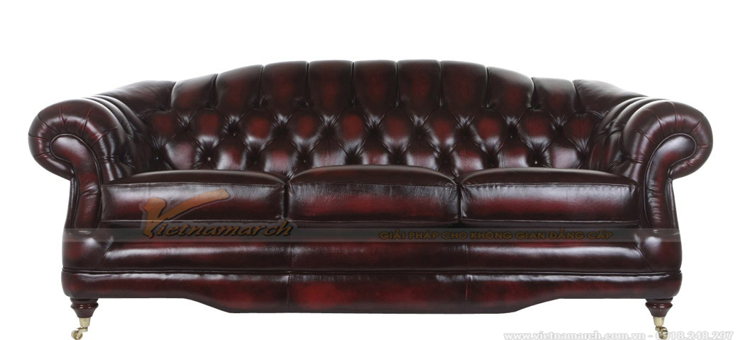 Mẫu ghế sofa da bóng sang trọng