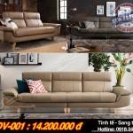 Mẫu ghế sofa văng chất liệu da nhập khẩu Italia cao cấp – Mã: SDV-001