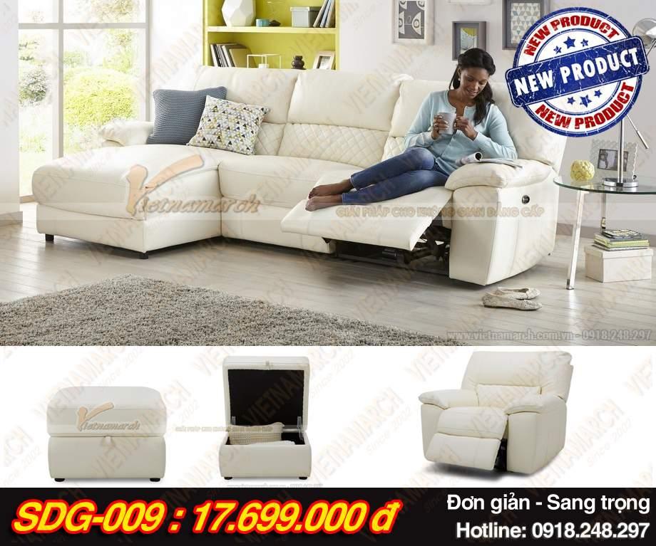 mau ghe sofa da goc SDG-009