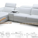 Mẫu ghế sofa da góc bản rộng cho phòng khách lớn – Mã: SDG-050