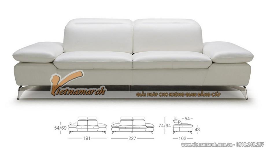Mẫu ghế sofa da kiểu dáng linh động 2016 - 01