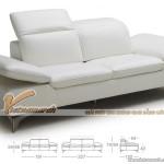 Mẫu ghế sofa văng chất liệu da kiểu dáng linh động 2016 – Mã: SDV-052